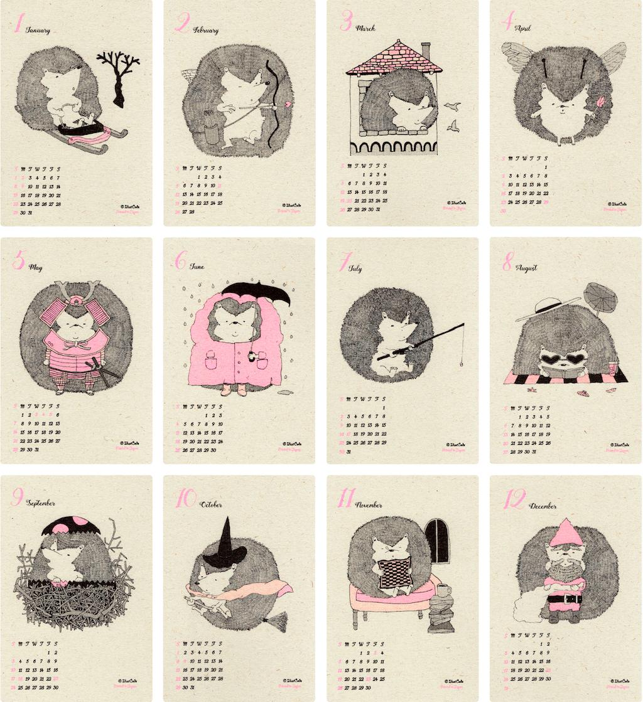 特製「ハリネズミのカレンダー2017」 - 4
