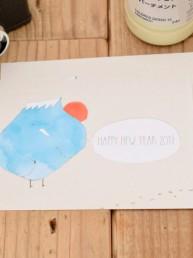 フジドリさんちの2017年酉年年賀状 - 1