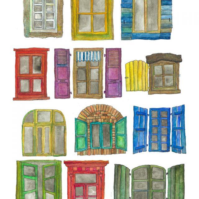 窓が語る都市生活