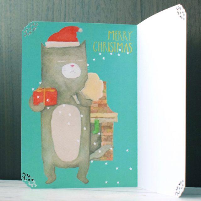 """""""ニャン""""ともふてこいクリスマスカード - 1"""