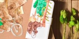 ハチミツ泥棒の手帳型スマホケース