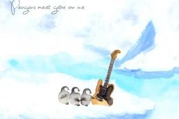 氷上でペンギンがギターと出逢う